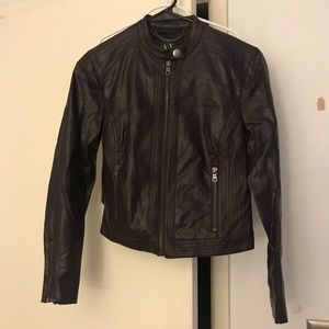 Dark plum Moto Jacket